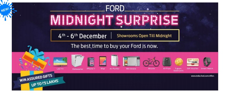 Ford midnight surprise assured gifts